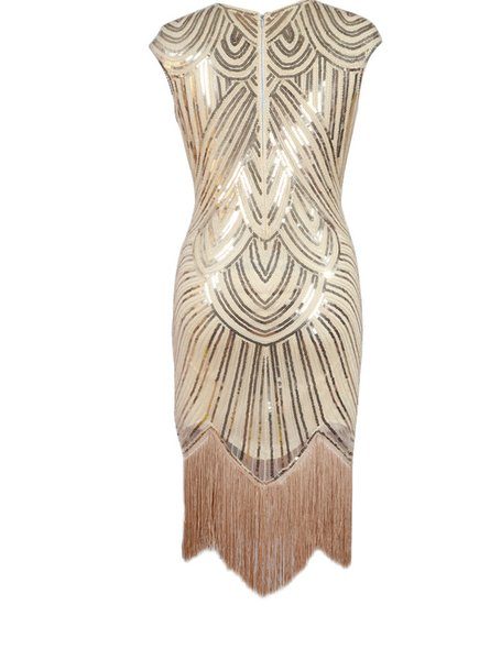 2019 hot style fringe hand-woven sequined dress dress to restore ancient ways the European and American film