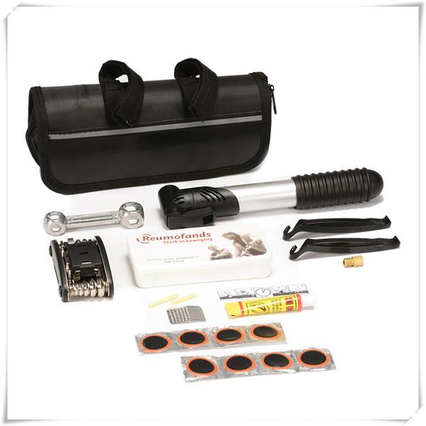 Bicycle Repair Tools Bike Pocket Multi Function Folding Tool Bike Fix Tools Foldable 16-in-1 Wrench Set Of Tire Repair Tools