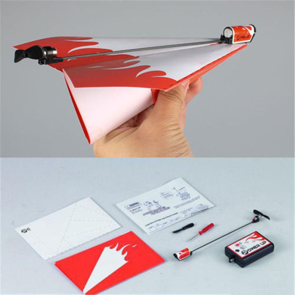 best selling Wholesale-Essential Power Up Electric Paper Plane Airplane Conversion kit Fashion Educational Toys Great Gift Free Shipping