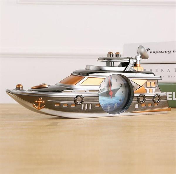Acheter Rétro Yacht Décoration Réveil Vintage ABS Quartz Table Montre  Décoration De La Maison Analog Horloges Sans Batterie A2201c De $10.02 Du  ...
