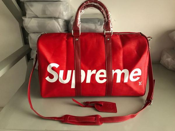 2018 new fashion men women travel bag duffle bag, brand designer luggage handbags large capacity sport bag 45X26X34CM 41418