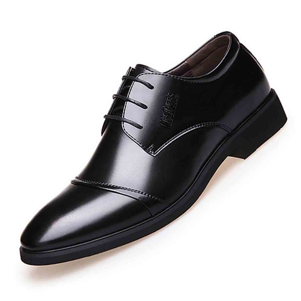 Leather Top Layer Leather Strap Dress Shoes Simple 38-48 Yards Men's Shoes New Men's Spring Business Dress Casual