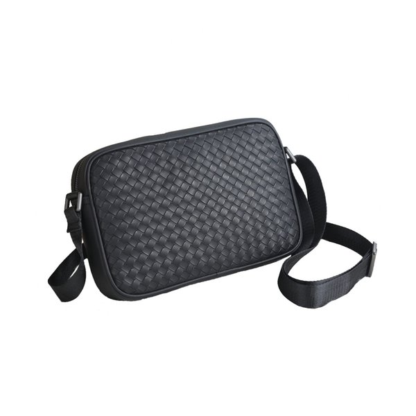 2019 Cross Body Bags With Belt Designer Messenger Bag Men Leather Shoulder Luxury Cross-Body Bag Zipper For Men Classic Woven Black Color