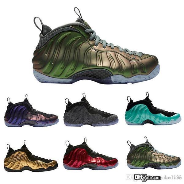 Chaussures de basket en gros Penny Hardaway Sport Sneakers Mousse Un Marron Gomme Brown Aubergine Island Vert Métallisé Rouge Or