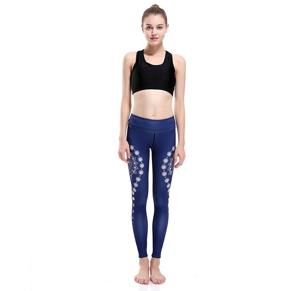 197d5035947c3b Girl Yoga Leggings Gypsy Drop Flower 3D Graphic Full Print Sportwear Yoga  Wear Pants Woman Soft