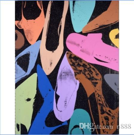 Andy Warhol Diamond Dust Shoes High Quality Handpainted & HD Print Modern Abstract Art Oil Painting On Canvas Home Deco Wall Art g310