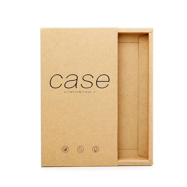 Kraft Drawer Paper Box Gift for Phone Case Package phone Shell BOXES Packing Box for iPhone 6 7 8 Plus X XS Retail Packaging Custom LOGO