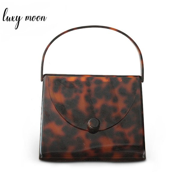 Luxury Purse Clutch Female Fashion Design Vintage Leopard Printing Mini Handbags Elegant Party Bag Evening Bags Acrylic Clutches