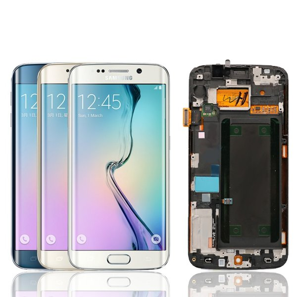 ORIGINAL 5.1'' Replacement Super AMOLED Display For SAMSUNG Galaxy s6 edge G925 G925F G925I LCD Digitizer Assembly with Frame