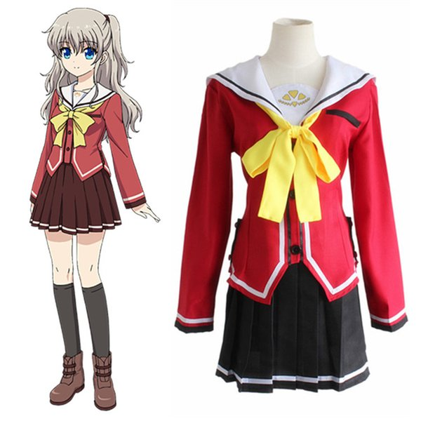 Tomori Nao Cosplay Charlotte Costume Japanese Anime Cosplay Costume For Women Adults Fancy School Uniforms Suits
