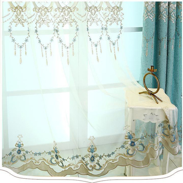 2019 Can Be Customized Curtain Fabric European Shade Embroidery Living Room  Bedroom Curtains Customized Curtain Finished From Hezekiah, $29.15 | ...