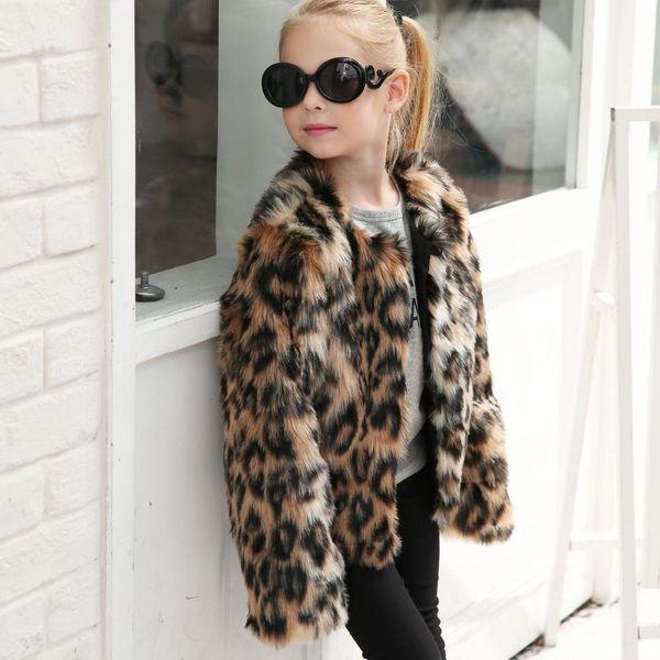 Manteaux d'enfants Designer chaud bébé fille Outwear vêtements d'hiver faux enfants manteau de fourrure coupe-vent Dropshipping