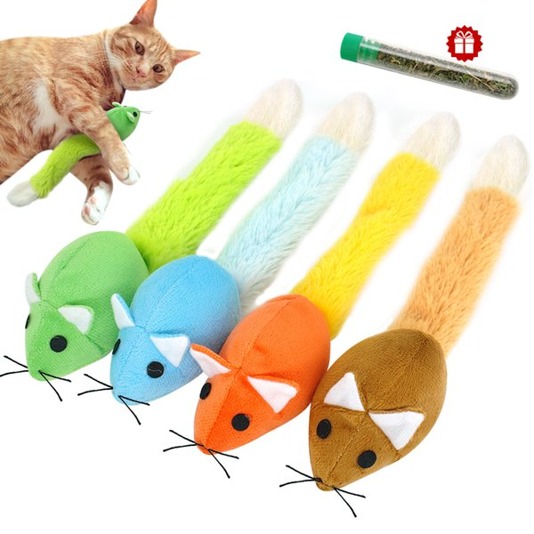 Funny Cat Toy Mouse Catmint Interactive Toy Cat Teaser Toys Long tail Scratch Playing Training Toys Catnip For Cats Kitten Mice Rat Product