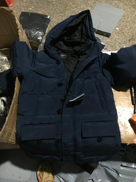 Men/women Parkas LONG WINTER Mac-age VIKTOR-0 Down & Parkas WITH HOOD/Snowdome jacket Brand Real Raccoon Collar White Duck Outerwear & Coats