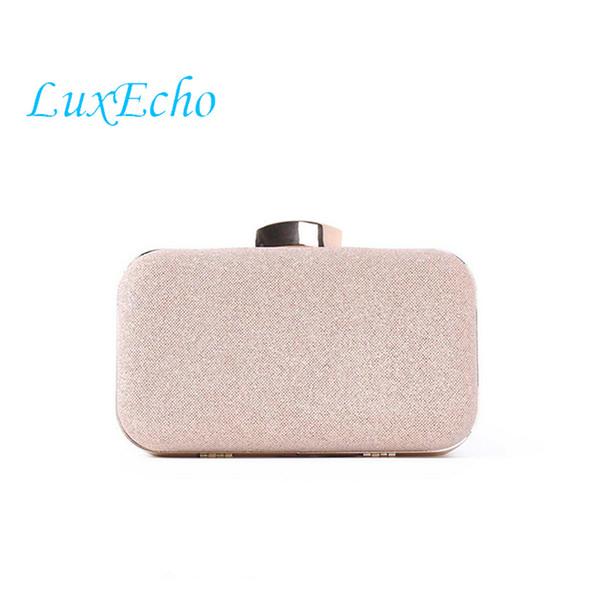 LuxEcho moda rosa borse della catena dorata con strass sposa della borsa di nozze borse da sera del partito di moda Giorno