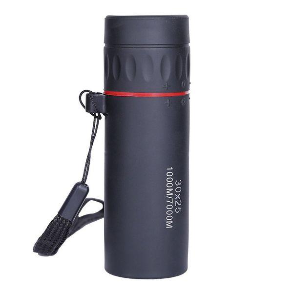 Mini 30x25 telescopio monocular, HD compacta monocular para niños adultos Observación de aves Deportes Viajes de excursión que acampa Caza Pesca y aventajan
