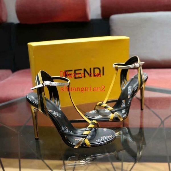 Yeni Marka Deri Bayanlar Yüksek Sandalet Topuklu Bayanlar Seksi Yüksek Topuklu bayanlar Dantel Yüksek Topuklu Rahat Kadın Ayakkabı Kadın Sandalet Bayan Terlik k-A16
