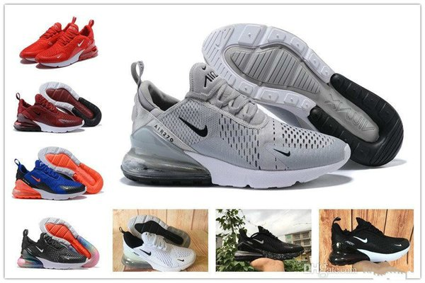 2019 2019 270 Parra Punch Photo Blue Mens Women Running Shoes Triple White University Red Olive Volt Habanero 27C Flair 270s Sneakers 36 45 From