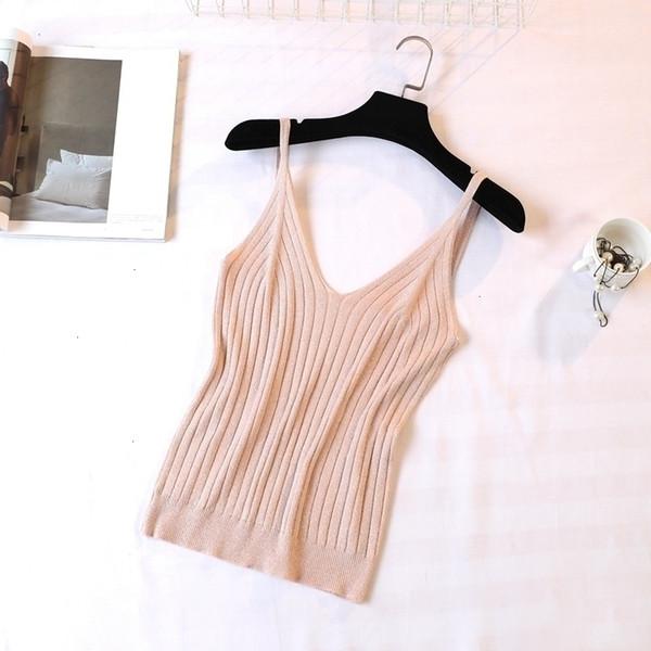 tank white cami gold thread crop  women knitted vest summer camisole sashes white tank fitness femme tshirt