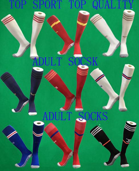 19 20 Calze per bambini Calze da calcio AJAX Calze da calcio Real Madrid da ragazzo in cotone alte per bambini Asciugamano addensato Sport di fondo Tubi lunghi