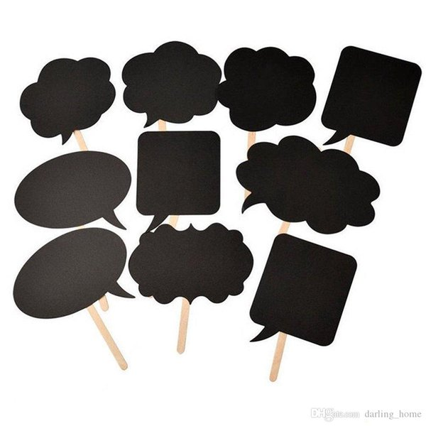 10pcs/set Blanket Blackboard Photo Booth Props Paper Mask Party Decoration Masquerade Masks Kids Toys Christmas Event Decor