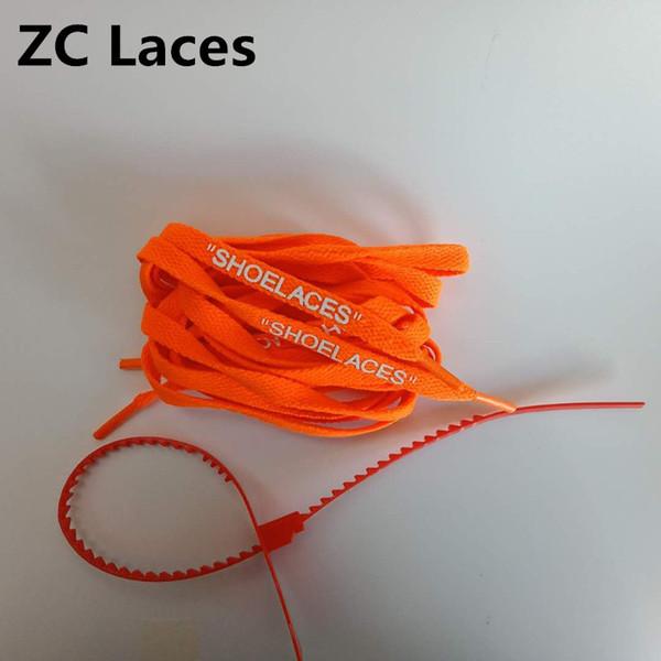 Naranja con lazos rojos de cremallera 160cm.