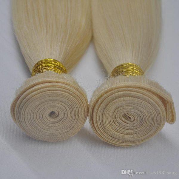 DHL Fedex Free 3pcs 300g Top Grade 100G Straight wave Color 613# Virgin Hair Bundles Unprocessed Human Russian Hair Weaving, FREE DHL