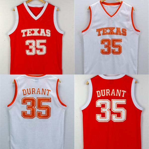 hot sale online 1d6fe fdcab 2019 Texas Longhorns Jersey #35 Kevin Durant Texas College Basketball  Jersey Stitched Men Basketball Shirts From Fanaticdealers, $20.25 |  DHgate.Com