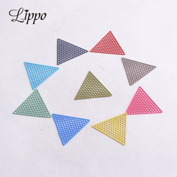 Accessories Jewelry Findings Components 50pcs AC4448 20mm Triangle Shape Charms Red Green Jewelry Findings Connectors