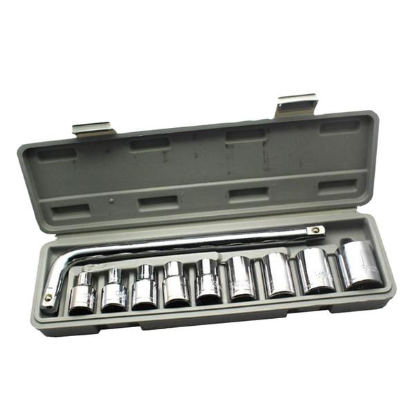 top popular 10pcs 1 2 Inch Drive Hex Bit Socket Set Socket wrench Set Wrench Adapter 2021