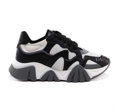 Dernières Réaction De Chaîne 19FW hommes baskets en cuir couture couture chaussures de luxe designer de luxe hommes plateforme Squalo logo de sport chaussures de sport F1