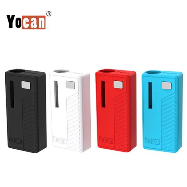 Authentic Yocan Rega Box Mod E Cigarette Vape Mod 320mAh Preheat VV Vape Battery Fit 510 Thread Battery With Side Window Super Portable