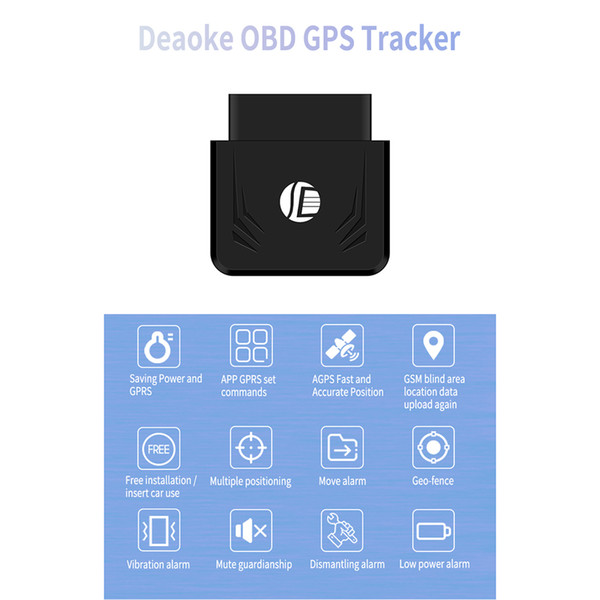 TK306 OBD GPS Tracker Car GSM Vehicle Tracking Device OBD2 16Pin Interface Real Time GPS Locator Mobile Alarm GPS Trackers