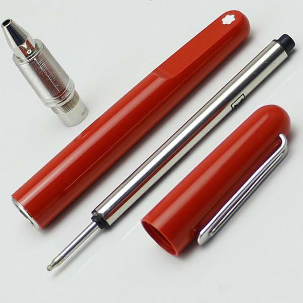 resina rossa penna a sfera con calamita magnetica intaglio moda, opzione gemelli