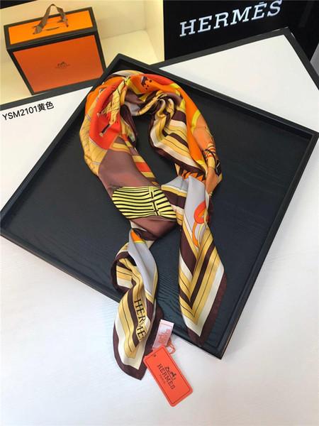 Silk Women Scarf Brand Design Foulard Print Square Scarves Fashion Shawls Wraps