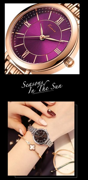 New girls fashion watch business classic dial casual ladies steel belt high quality watch