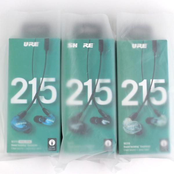 SE215 Écouteurs intra-auriculaires filaires avec micro Nouveau paquet Eurbuds Suppression du bruit avec boîte de retenue Casque HIFI Livraison DHL gratuite