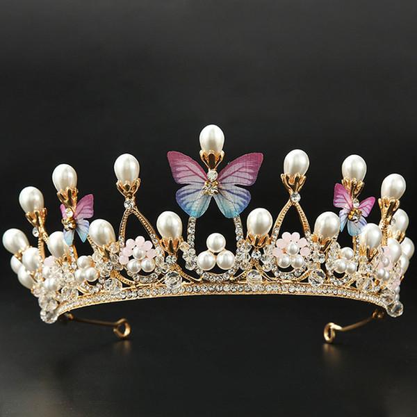 Luxury Crystal Wedding Butterfly Crown Bridal Tiaras Prom Bride Hair Ornament Jewelry Accessories Rhinestone Tiara Headband SS30 C18112001