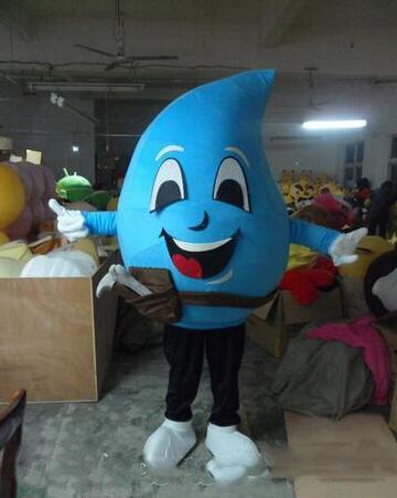 High quality pink girl Water droplets Mascot Costumes animation cartoon garment