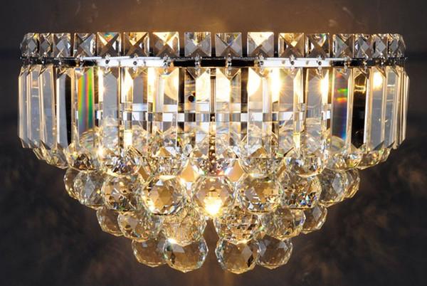 Simple modern crystal lamp L balcony aisle bedroom bedside restaurant villa study lighting LLFA