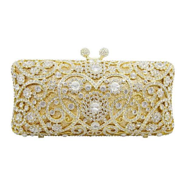 Nice- Luxury Crystal Clutches For Women Peacock Clutch Evening Bag Crystal Purse Nice New Style Party Bag 88169