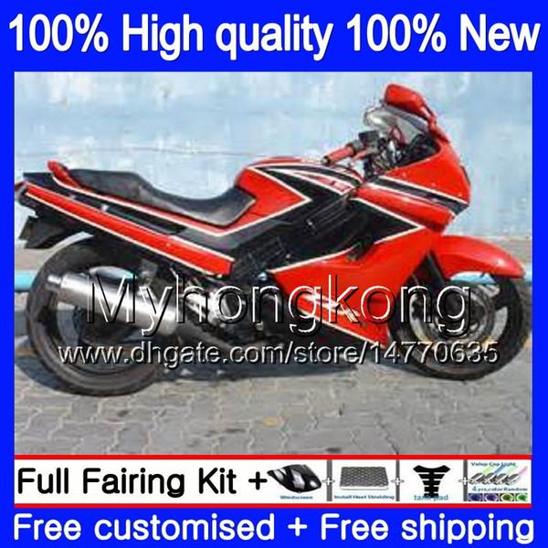 Kit Bodys per Kawasaki ZZR 250 1990 1995 1996 1997 1998 1999 251MY.31 ZZR250 90-99 ZZR250 90 95 96 97 98 99 carenatura luce rossa + 7Gifts