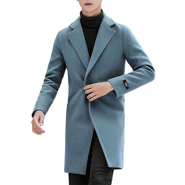 best selling Wool Blend Men's Coat Woollen Overcoat Autumn Winter Men Coat Fashion Brand Clothing Lined Warm Over Coat Male Plus Size 5XL CJ191212