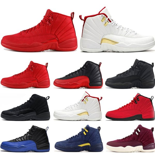 2020 basketball shoes 12s FIBA Game Royal GYM RED WNTR FRENCH BLUE MICHIGAN flu game NYLON mens sports sneakers trainers Athletics 7-13