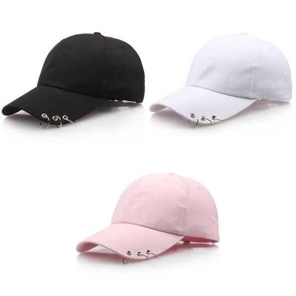 Erkek Kadın Beyzbol Şapkası Bboy Ayarlanabilir Rahat Snapback Spor Hip-Hop Topu Şapka Beyzbol Kapaklar Siyah Pembe Beyaz D19011502