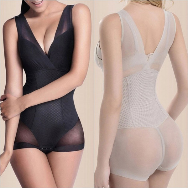 Lady Slimming Burn Fat Briefs Shapewear Ventre Slim Body Complet Body Shaper Minceur Sous-Vêtements Gilet Body Combinaison