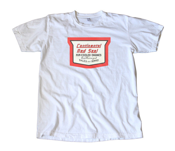 Vintage Continental Red Seal Engines Decal T-ShirtFunny free shipping Unisex Casual Tshirt top