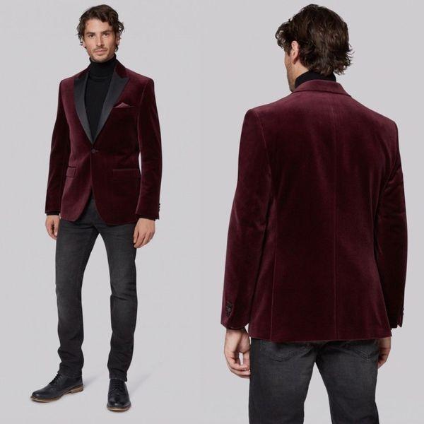 chaqueta hombre burdeos