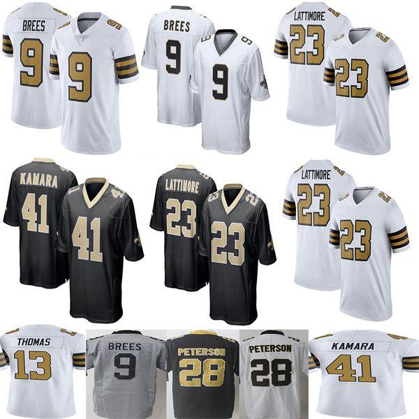 b2b6fcb83 New Saints #9 Drew Brees 41 Alvin Kamara Saints Jersey Men's 23 Marshon  Lattimore 13