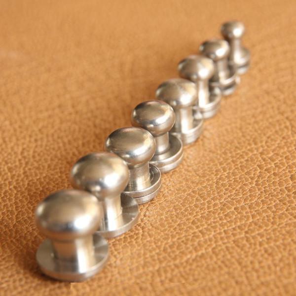 Paslanmaz çelik cüzdan çanta vida kemer Perçin Emzik çivi kafa keşiş diy el yapımı deri çanta anahtar dava Dekoratif tırnak donanım bölüm